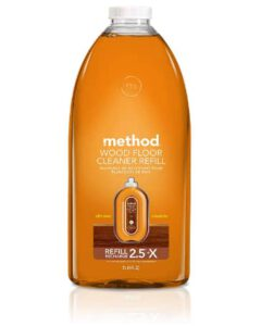 Method Squirt + Mop Hardwood Floor Cleaner Refill, Almond, 68 Ounce- good hardwood floor cleaner