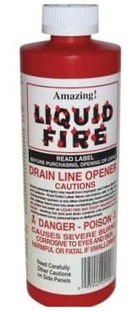 How to use liquid fire drain cleaner
